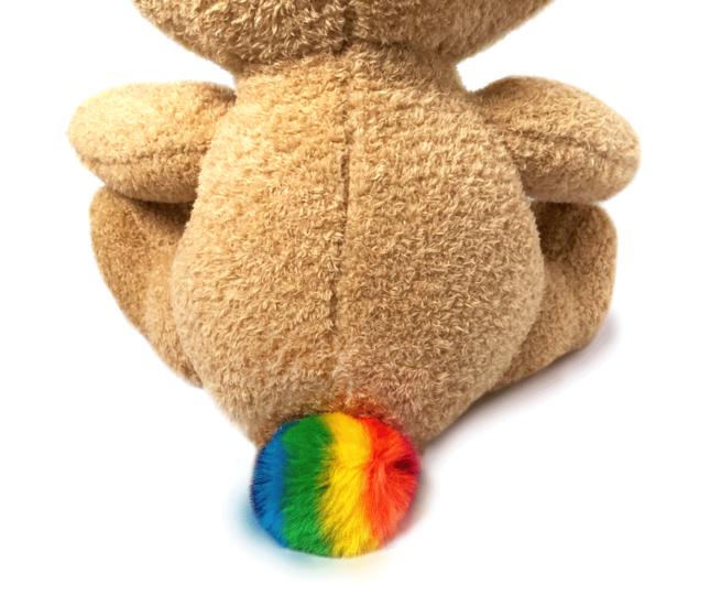 LGBTQ Brave Bear Rainbow Tail